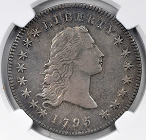 Picture of 1795 FLOWING HAIR $1, 2 LEAVES AU53
