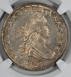 Picture of 1807 DRAPED BUST 50C, DRAPED BUST, LARGE EAGLE MS66