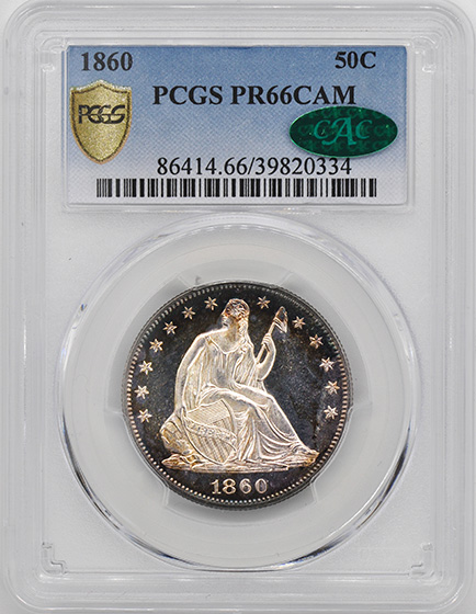 Picture of 1860 LIBERTY SEATED 50C PR66 Cameo