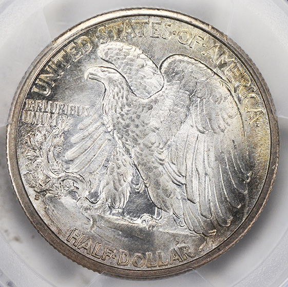 Picture of 1917-S WALKING LIBERTY 50C, REVERSE MS65