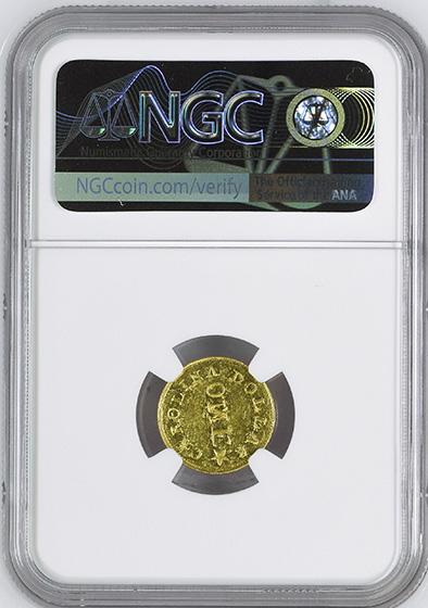 Picture of C BECHTLER G$1, N REVERSED MS63