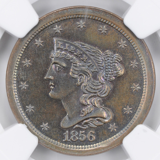 Picture of 1856 BRAIDED HAIR 1/2 C PR67 Brown
