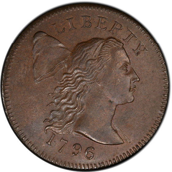 Picture of 1796 FLOWING HAIR LARGE 1C, LIBERTY CAP MS62 Brown