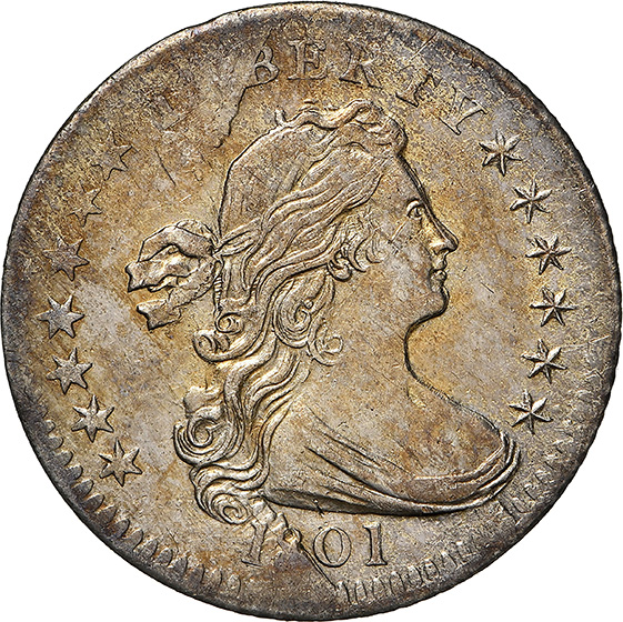 Picture of 1801 DRAPED BUST H10C, LARGE EAGLE MS61