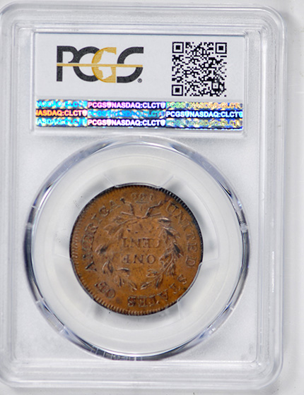 Picture of 1798 DRAPED BUST 1C, 1ST HAIR STYLE MS64 Brown