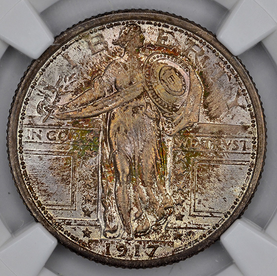 Picture of 1917 STANDING LIBERTY 25C, TYPE 1 MS67+ Full Head