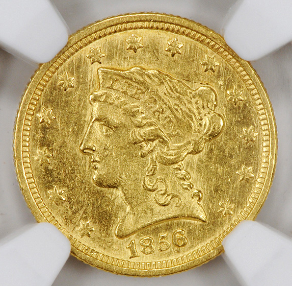 Picture of 1856-C LIBERTY HEAD $2.5 MS61