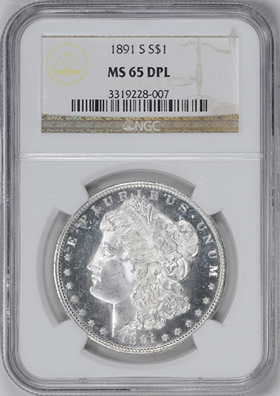 Picture of 1891-S MORGAN S$1 MS65 DMPL
