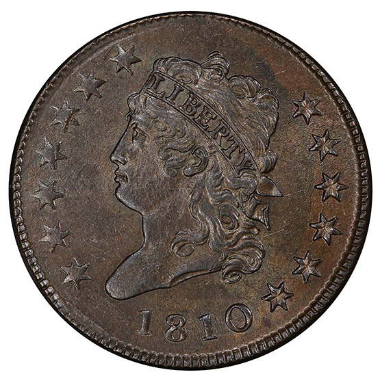 Picture of 1810 CLASSIC 1C MS64 Brown