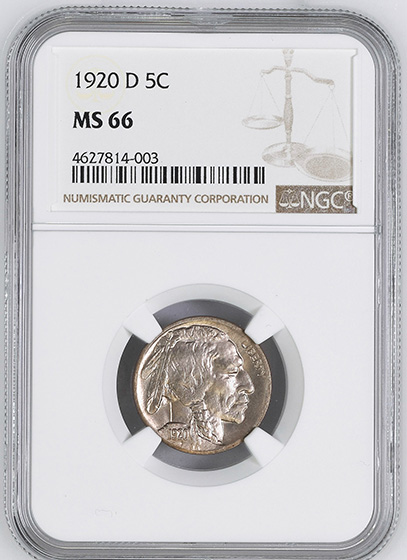 Picture of 1920-D BUFFALO 5C MS66