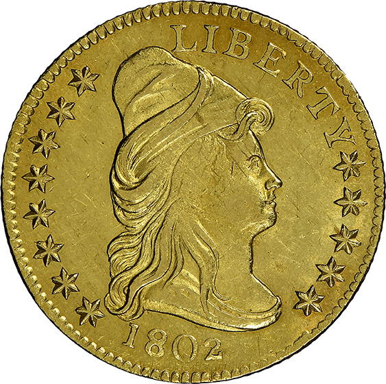 Picture of 1802 DRAPED BUST $2.5 MS65