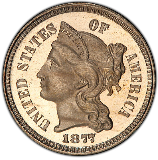 Picture of 1877 NICKEL 3CN PR66 Deep Cameo