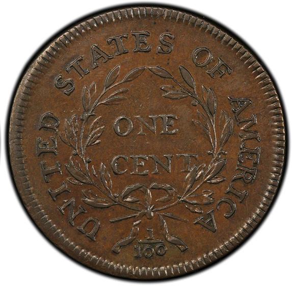 Picture of 1796 LIBERTY CAP LARGE 1C, LIBERTY CAP AU55 Brown