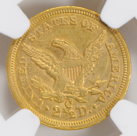 Picture of 1855-C LIBERTY $2 1/2 AU58