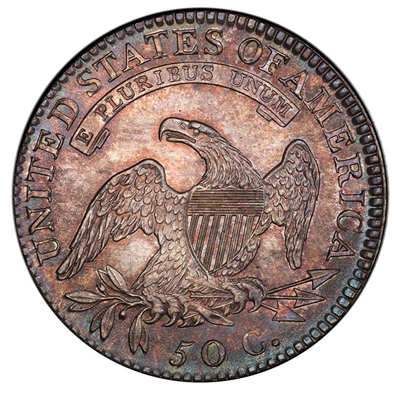 Picture of 1819/8 CAPPED BUST 50C, LARGE 9 MS65