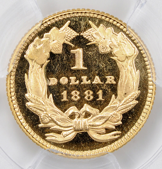 Picture of 1881 GOLD G$1, TYPE 3 PR67 Deep Cameo