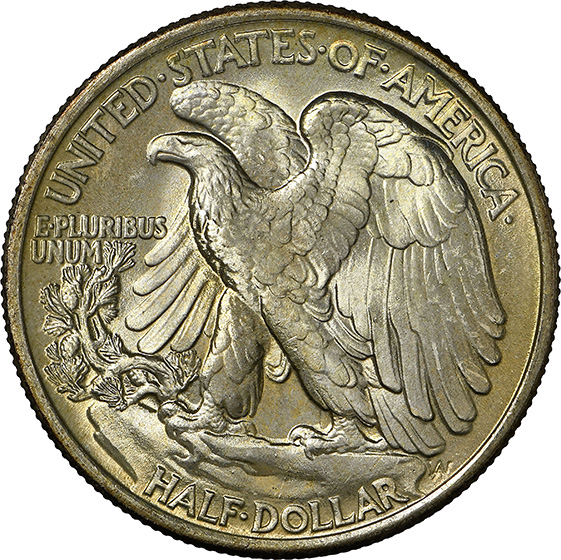 Picture of 1934 WALKING LIBERTY 50C MS68