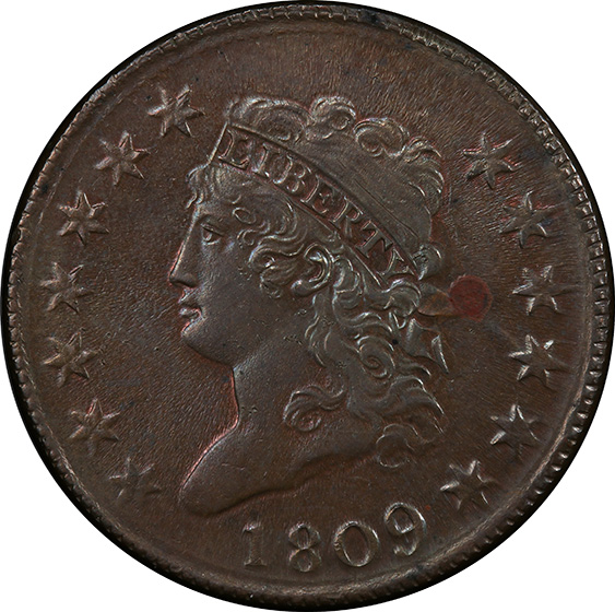 Picture of 1809 CLASSIC HEAD 1C MS63 Brown