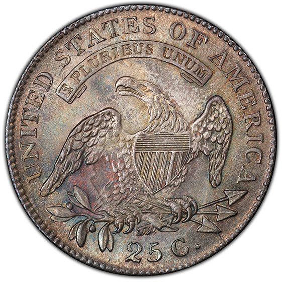 Picture of 1818/5 CAPPED BUST 25C MS65