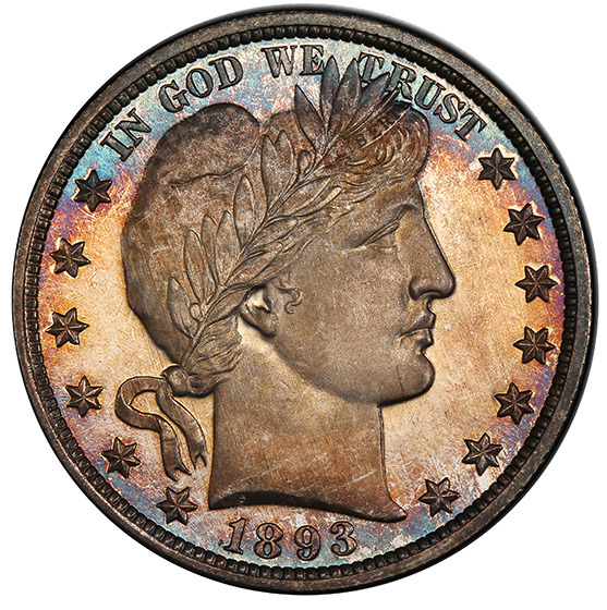 Picture of 1893 BARBER 50C PR68 Cameo