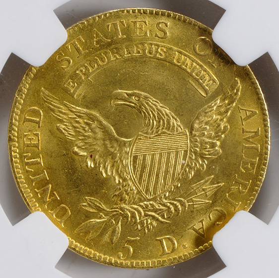 Picture of 1811 CAPPED BUST $5, TALL 5 MS64
