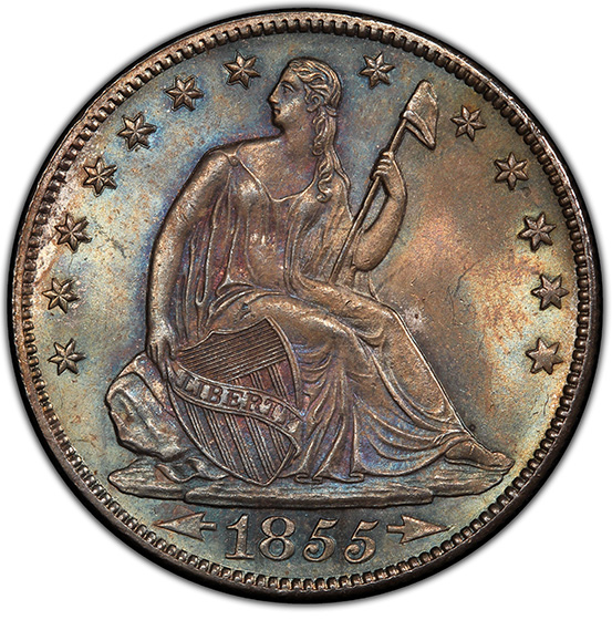 Picture of 1855-O LIBERTY SEATED 50C, ARROWS MS66