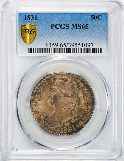 Picture of 1831 CAPPED BUST 50C MS65