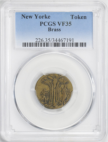 Picture of NEW YORKE BRASS TOKEN VF35
