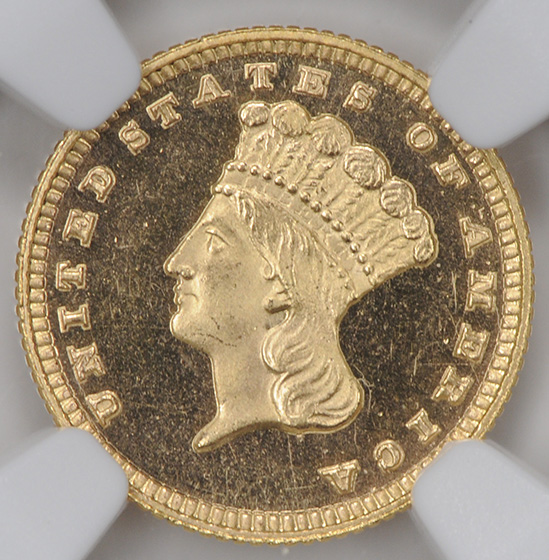Picture of 1882 GOLD G$1, TYPE 3 PR67 Deep Cameo