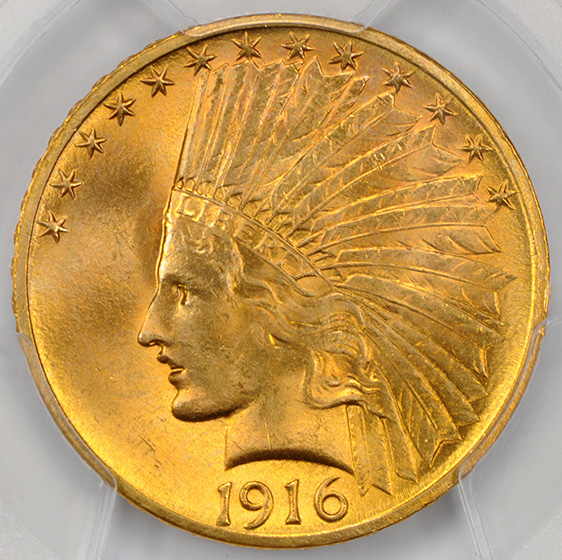 Picture of 1916-S INDIAN $10 MS65