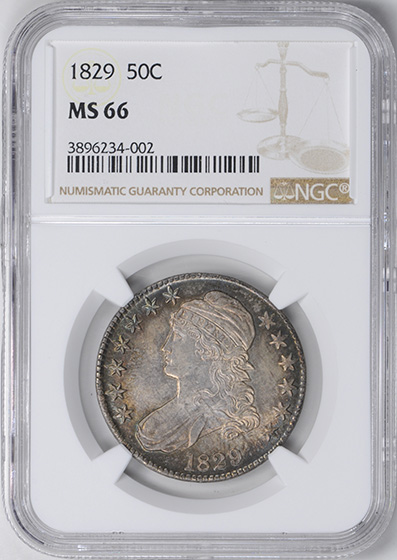 Picture of 1829 CAPPED BUST 50C MS66