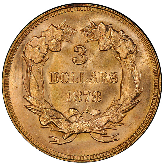 Picture of 1878 INDIAN PRINCESS $3 MS66