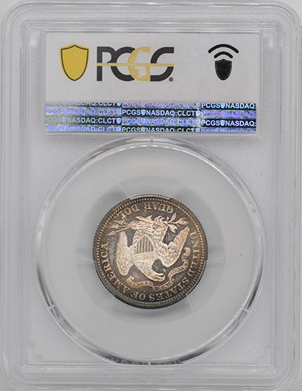Picture of 1874 LIBERTY SEATED 25C, ARROWS PR66+