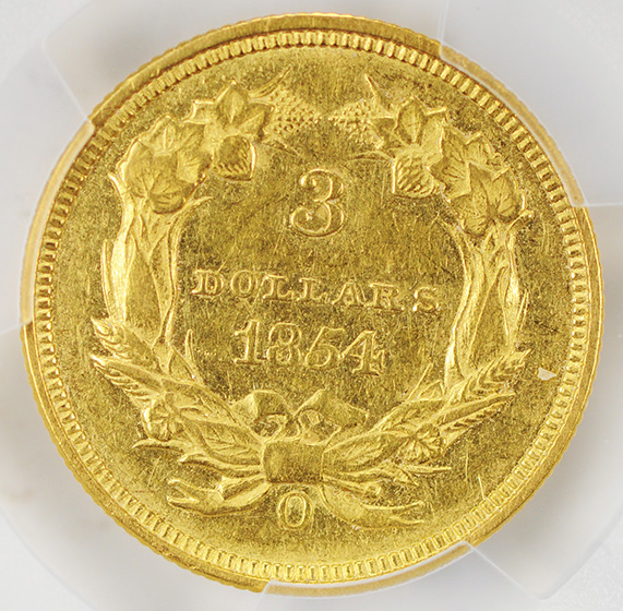 Picture of 1854-O INDIAN PRINCESS $3 AU58