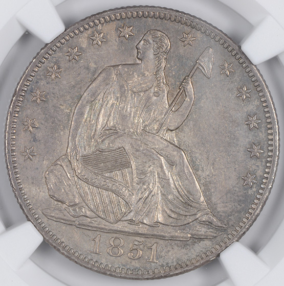 Picture of 1851-O LIBERTY SEATED 50C, NO MOTTO MS65