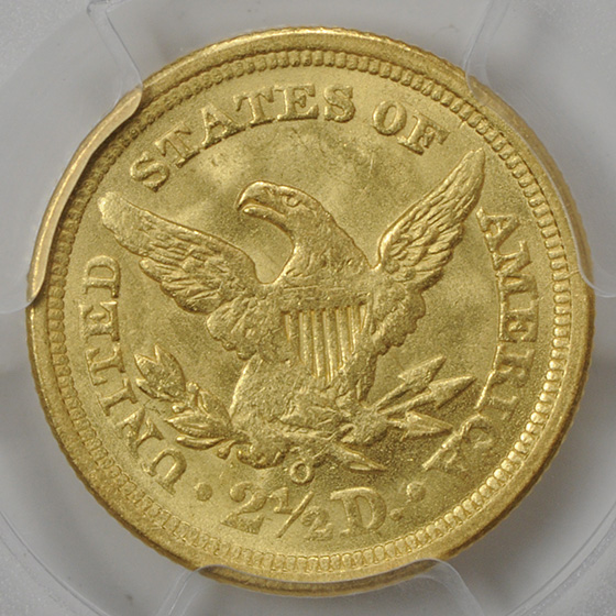 Picture of 1842-O LIBERTY HEAD $2.5 MS62
