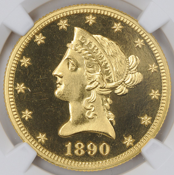 Picture of 1890 LIBERTY HEAD $10 PR66 Deep Cameo