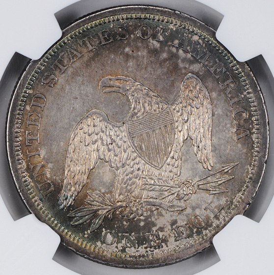 Picture of 1840 LIBERTY SEATED S$1, NO MOTTO MS63