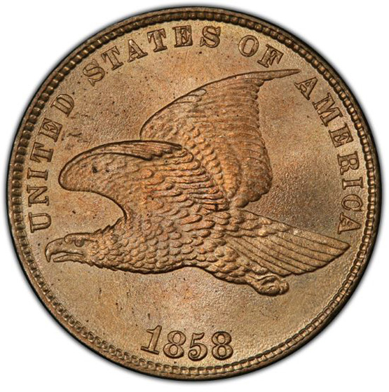 Picture of 1858 FLYING EAGLE 1C MS66