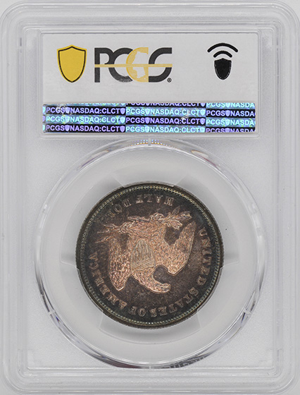 Picture of 1840 LIBERTY SEATED 50C, REVERSE OF 1839 MS65
