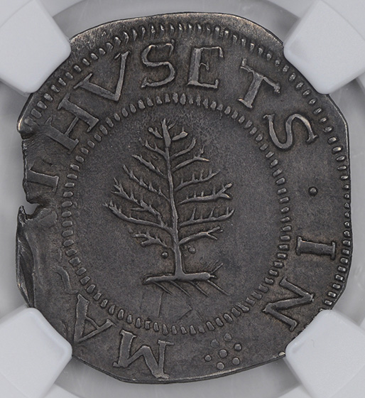 Picture of 1652 PINE TREE SCHILLING, LG PL, PELLETS MS62