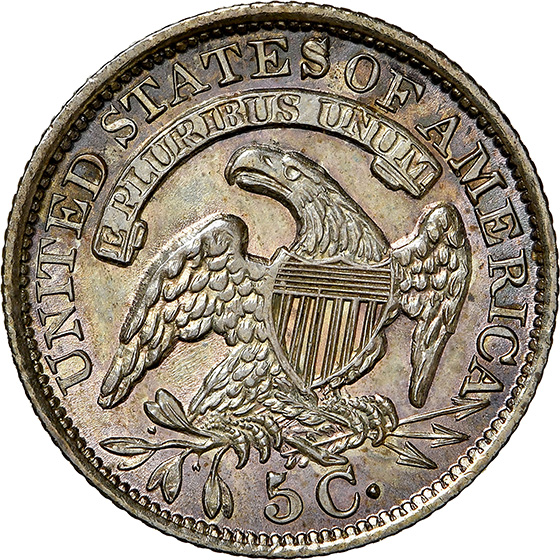 Picture of 1834 CAPPED BUST H10C MS66+