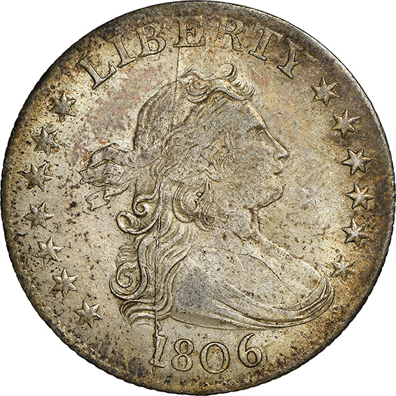 Picture of 1806 DRAPED BUST 25C, HERALDIC EAGLE MS63