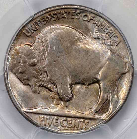 Picture of 1920-S BUFFALO 5C MS65