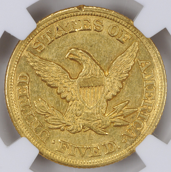 Picture of 1850-C LIBERTY $5 AU58