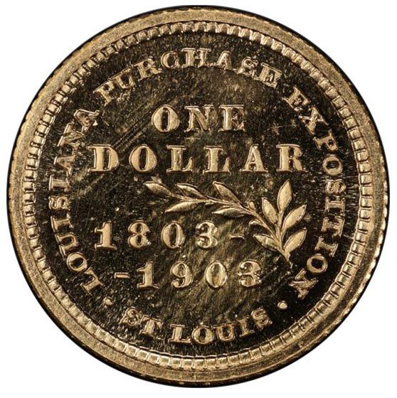 Picture of 1903 JEFFERSON G$1, LA PURCH-JEFFERSON PR67 Cameo