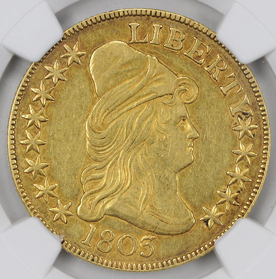 Picture of 1803 DRAPED BUST $10, LARGE STARS REVERSE AU55