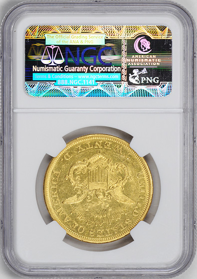 Picture of 1850-O LIBERTY HEAD $20 MS61
