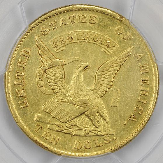 Picture of 1852 AUGUSTUS HUMBERT $10, HUMBERT MS60