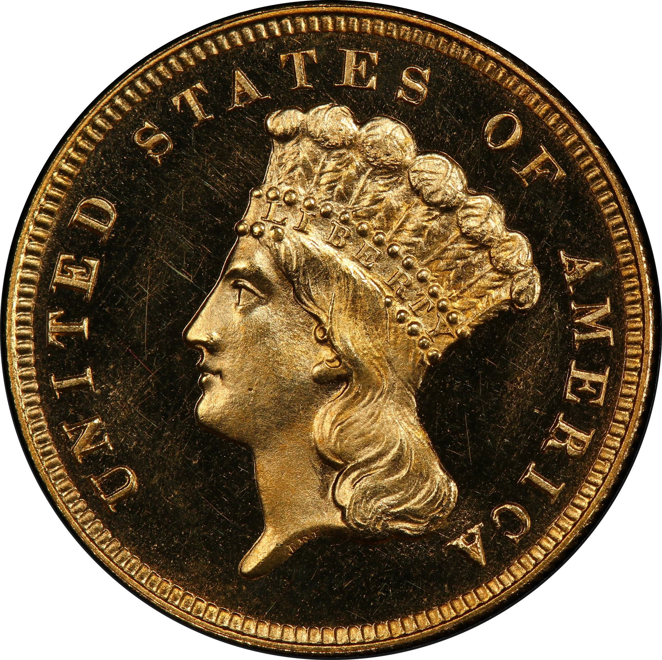 Picture of 1886 INDIAN PRINCESS $3 PR65 Cameo